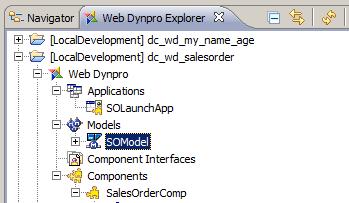 Model Used in Java WebDynpro App
