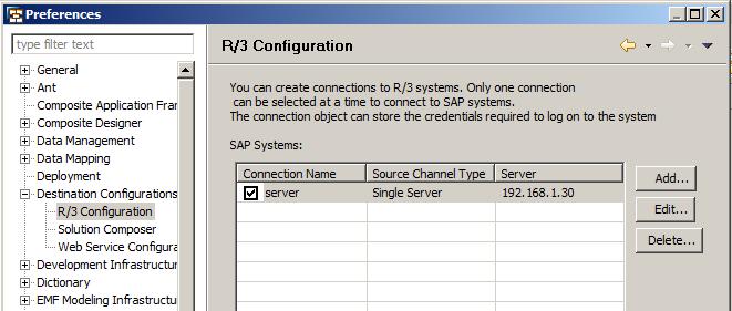 Succesful R/3 Destination Configuration