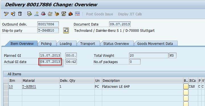 Billing date in billing document sap