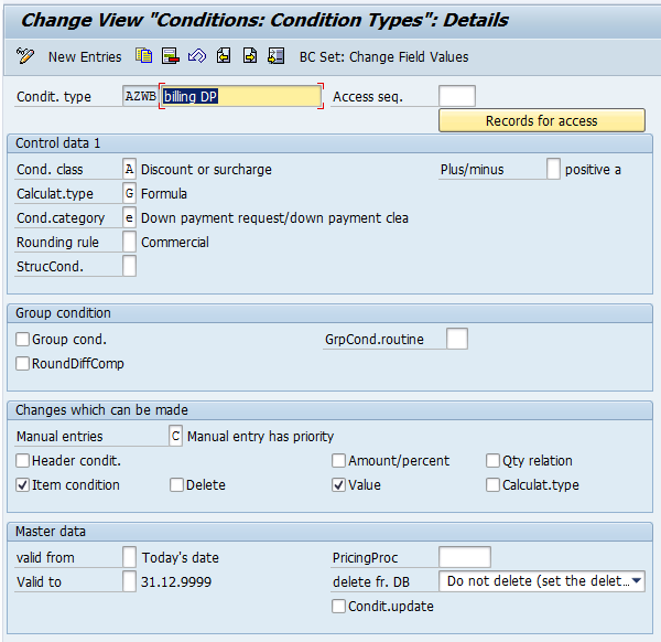 Down Payment Processing with Document Condition – Only Ordinary Notes