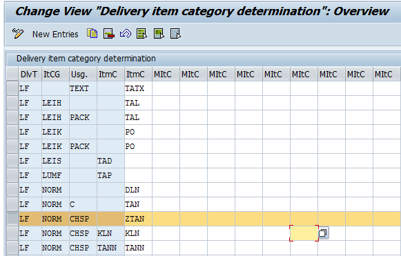 Item Category Determination when Using Usage Batch Split