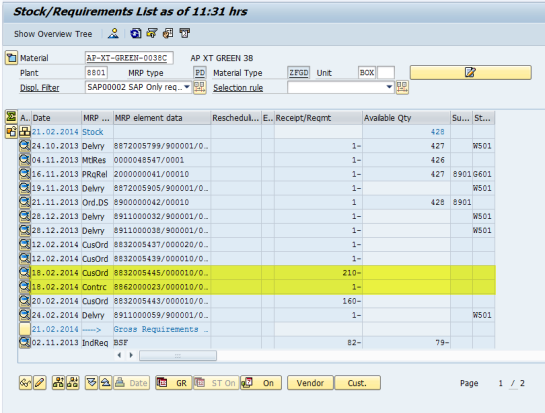 Fixed Quantity and Dates in Sales Order Document – Only Ordinary Notes